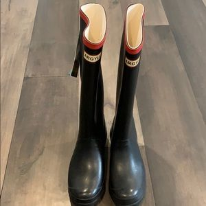 Hunter Argyll rain boots black NEW size 4 35/36